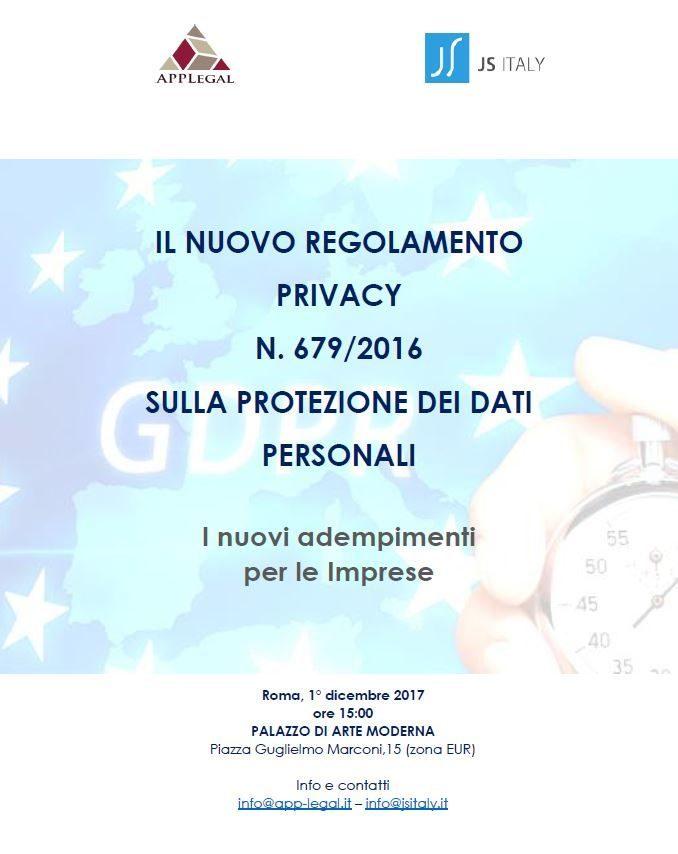 GDPR a Roma convegno